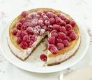 Baked raspberry and ricotta cheesecake