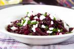 Minty beetroot and goat's cheese salad