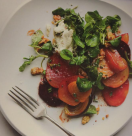 Roast beetroot and goat's cheese salad