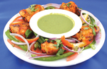 Tandoori chicken with mint drizzle