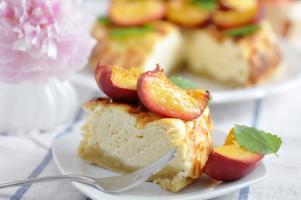 Peachy cheesecake
