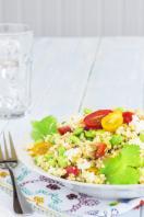 Moroccan bulghar wheat and feta salad