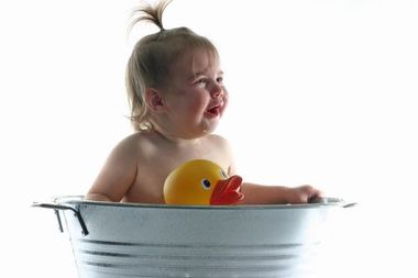 What to do if your toddler is scared of baths