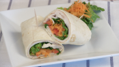 Roast turkey and veggie wraps