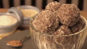 Almond and Date Chocolate Balls