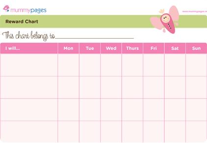 Reward Chart For Girls Mummypagesmmypages