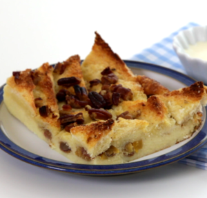 Christmas bread and butter pudding