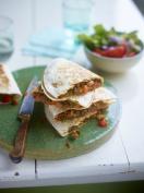 Lamb and cheddar quesadillas