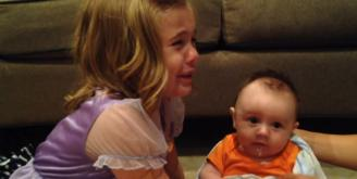 Little girl is devastated when she learns that her baby brother will grow up