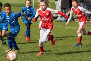 Girl power: Arsenals underage girls teams are playing against boys