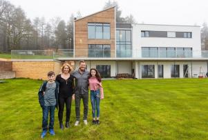 Were not joking: This family built their 'flat pack mansion' in just THREE DAYS