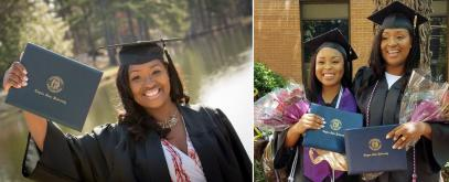 Extraordinary mum graduates from college on the SAME day as her daughter