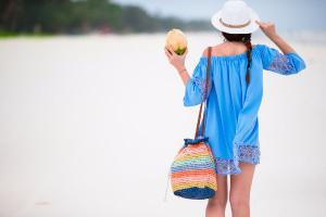 We are totally crushing on these fancy yet practical beach bags that will fit EVERYTHING