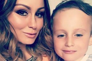 So excited! Chanelle Hayes introduces her newborn son - and reveals his cute name