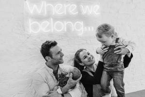 A precious keepsake for us all: Harry and Izzy Judd share family tradition