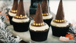 Witch hat cupcakes