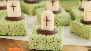 Graveyard rice puff treats