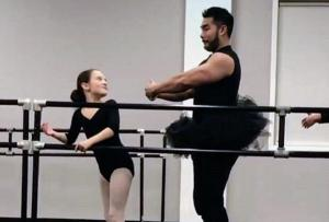 Hilarious father dons tutu to dance with daughter