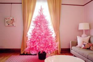 Pink Christmas trees are trending online, and were totally obsessed