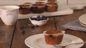Blueberry quinoa muffins