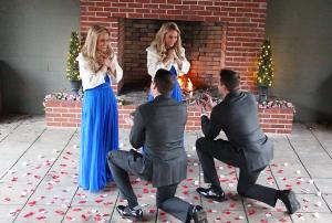 Twin brothers propose to twin sisters- at the same time!