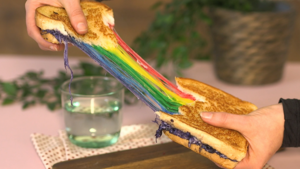 Rainbow grilled cheese
