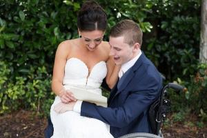 Anything is possible: paralysed man takes first steps on wedding day