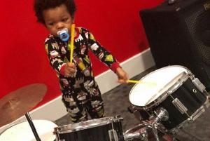 This video of a drummer genius two-year-old will make your day