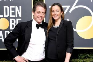Wedding fever: Hugh Grant and Anna Eberstein to marry this month