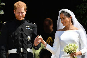 Just Married: Harry and Meghan share their first kiss as newlyweds