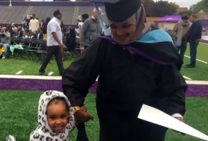 I needed to reward myself: mum graduates college one day after giving birth