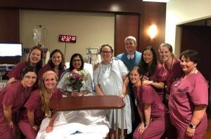 Mum performs wedding ceremony in labour ward where she was about to give birth