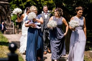New mum turns up to be sisters bridesmaid- just hours after giving birth