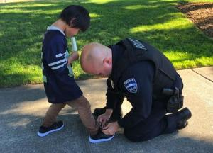 A selfless gesture: Cops come to boys rescue in local park