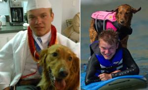 Quadriplegic man thanks surfer dog for helping him live life to the full