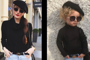 This ADORABLE twinning fashionista gives bloggers a run for their money