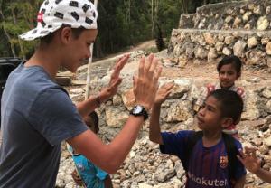 Beckham family spends inspiring day with underprivileged children