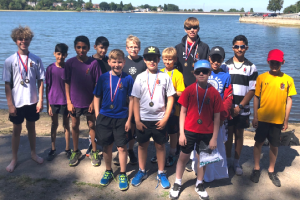Youth rowing club goes the extra mile be fulfilling widows request