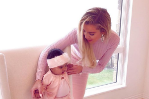 Christmas angels: Khloé shares first photos of Christmas with True
