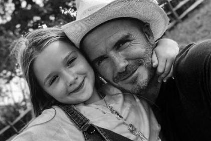 Uh-oh: Harper Beckham has a secret admirer and David is NOT happy